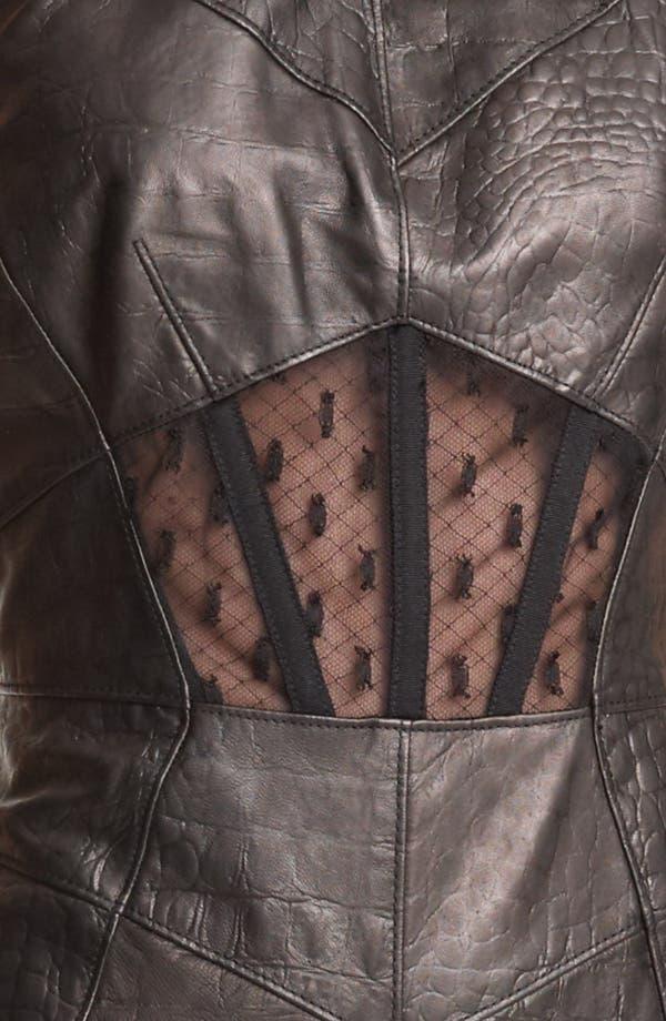 Alternate Image 4  - Jason Wu Embossed Leather Sheath Dress