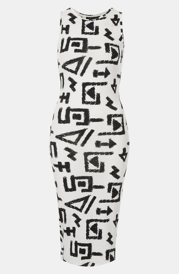 Alternate Image 1 Selected - Topshop 'Egypt Graffiti' Print Midi Tank Dress