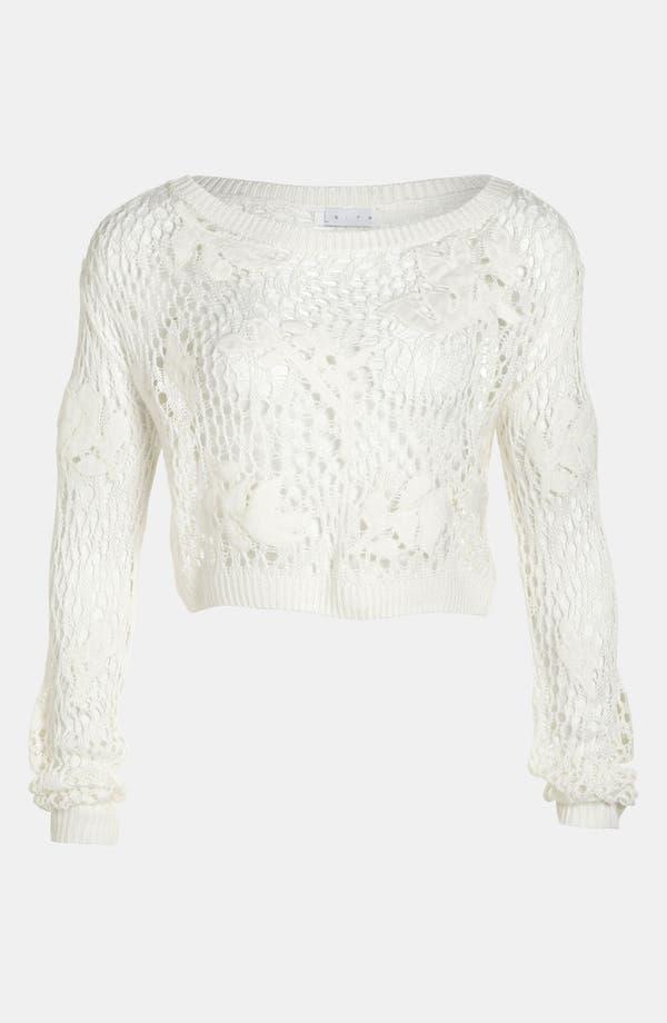 Alternate Image 2  - Leith 'Grunge' Open Crochet Pullover