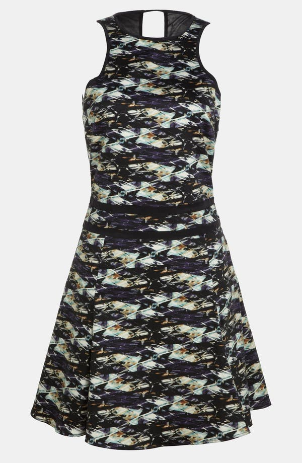 Alternate Image 1 Selected - Wayf 'Cut In' Fit & Flare Dress