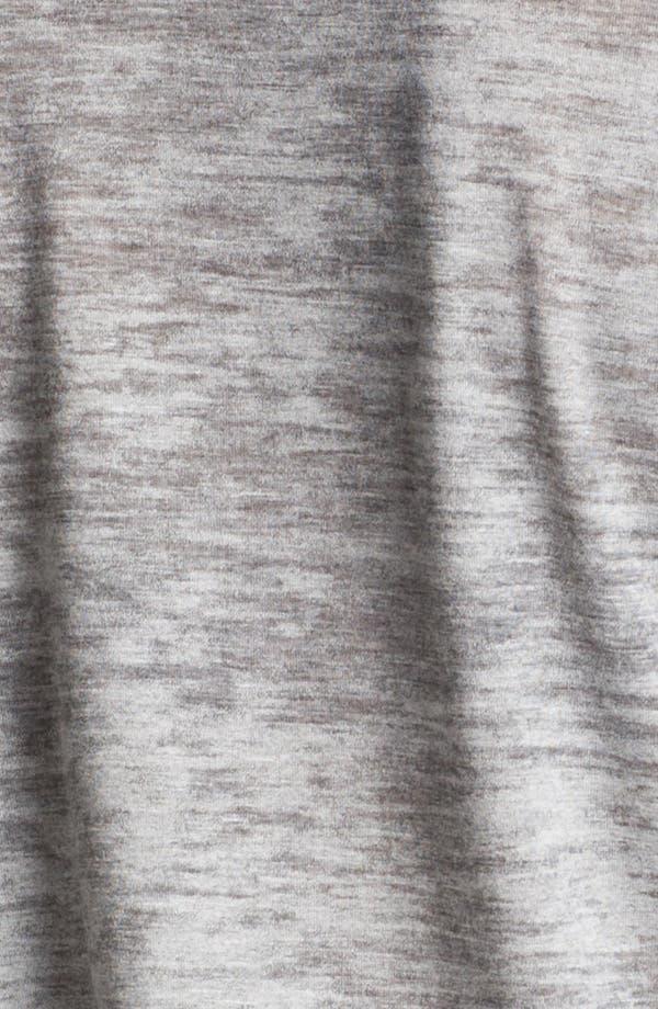 Alternate Image 3  - I.Ner Faux Leather Sleeve Slub Tee
