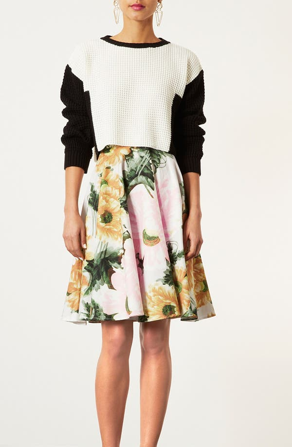 Alternate Image 5  - Topshop 'Modern Flower' Skirt