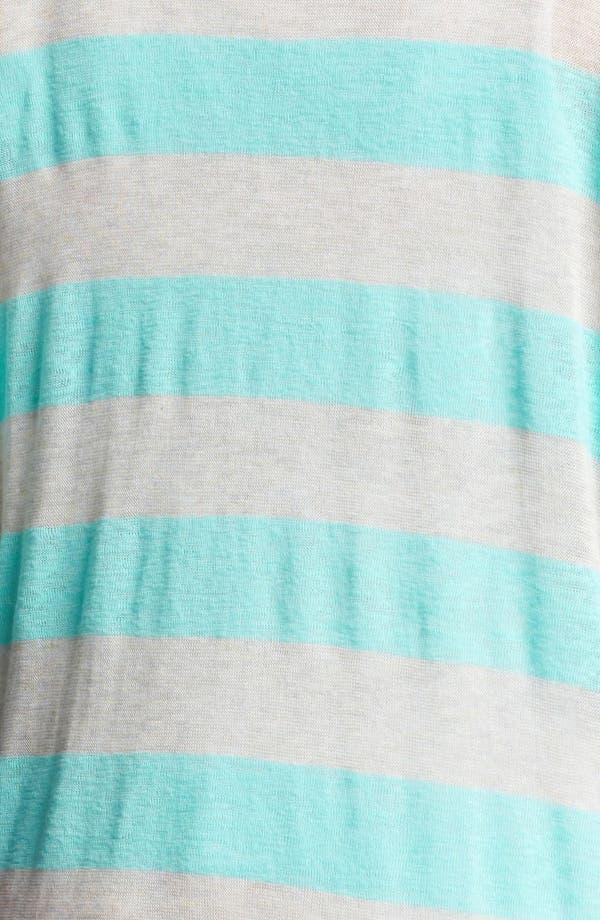 Alternate Image 3  - Painted Threads Stripe Cardigan (Juniors Plus)