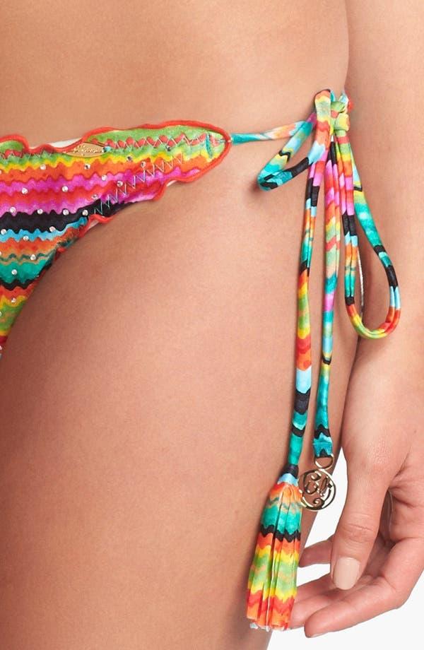 Alternate Image 3  - Luli Fama 'Hola Verano' Side Tie Bikini Bottoms