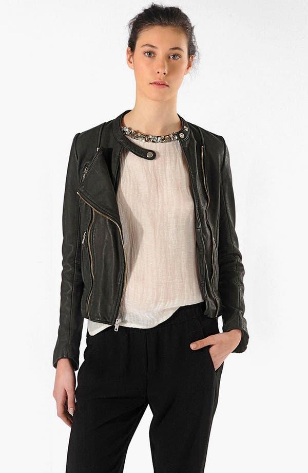 Main Image - maje 'Robbie' Leather Jacket