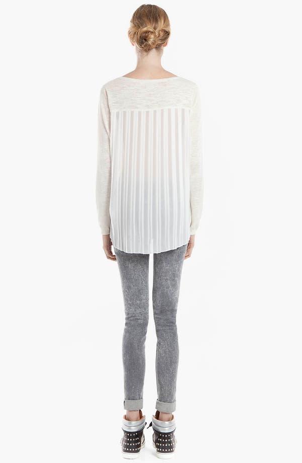 Alternate Image 2  - sandro 'Supreme' Mixed Media Sweater