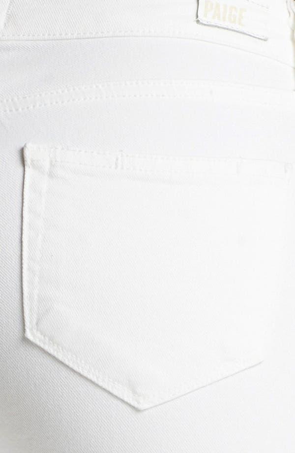 Alternate Image 3  - Paige Denim 'Indio Zip' Ultra Skinny Stretch Jeans (Optic White)