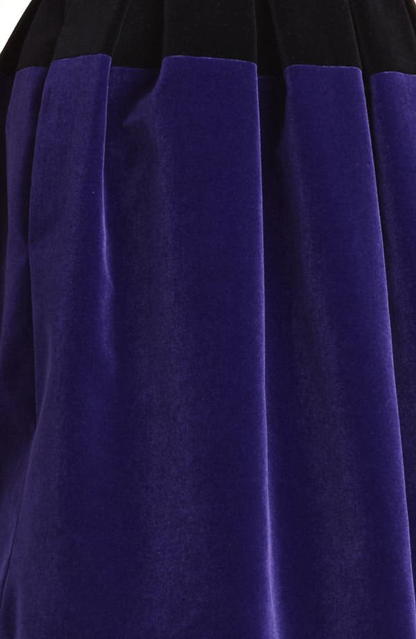 Alternate Image 3  - Christopher Kane Full Skirt Bicolor Velvet Dress