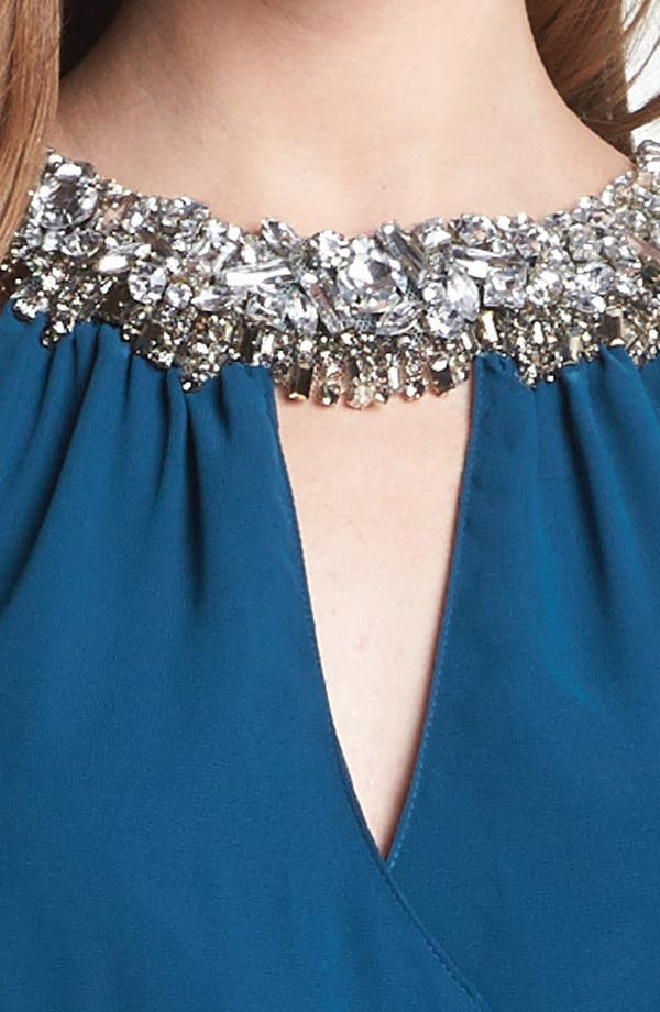 Alternate Image 3  - ERIN erin fetherston Embellished Faux Wrap Chiffon Gown