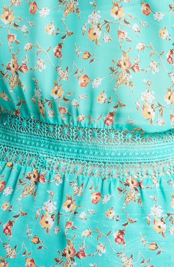 Alternate Image 3  - Painted Threads Floral Print Peplum Blouse (Juniors Plus)