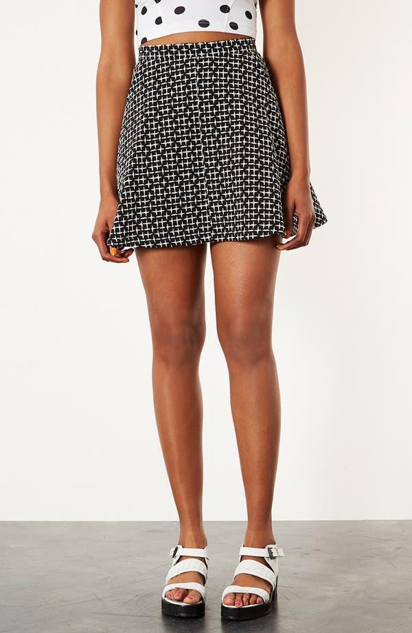 Main Image - Topshop Cross Stitch Print Skirt