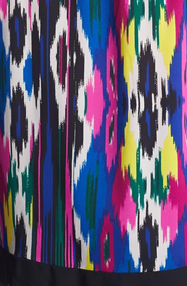 Alternate Image 3  - DKNYC Sleeveless Print High/Low Blouse (Plus Size)