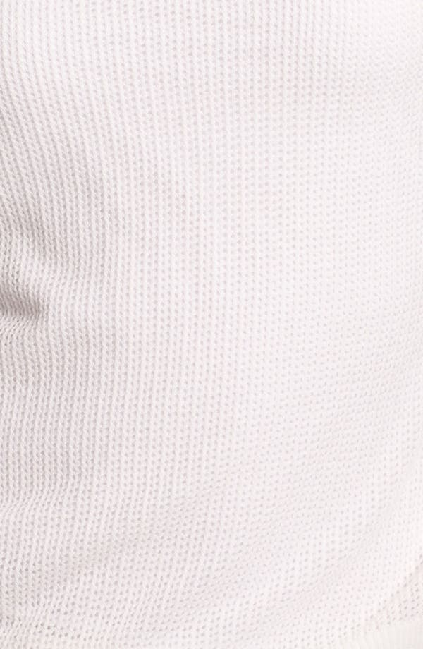 Alternate Image 3  - Caslon® Three Quarter Sleeve Textured Sweater (Petite)