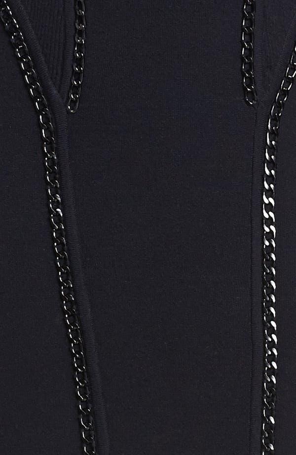 Alternate Image 3  - Milly 'Ditta' Chain Detail Merino Wool & Cotton Body-Con Dress