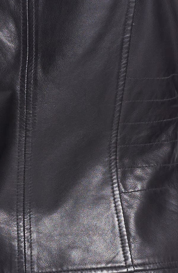 Alternate Image 3  - Bernardo Tab Collar Leather Jacket (Regular & Petite) (Nordstrom Exclusive)