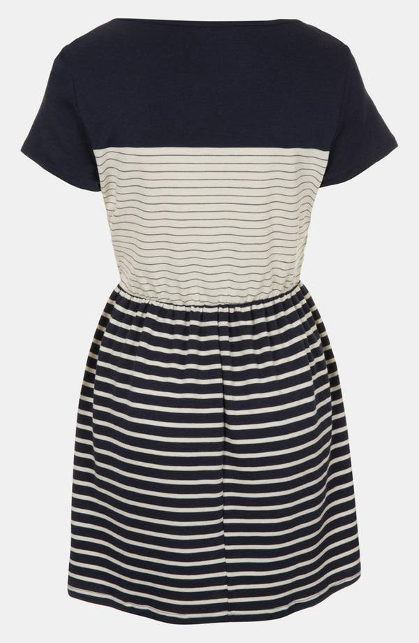 Alternate Image 2  - Topshop Stripe Skater Dress