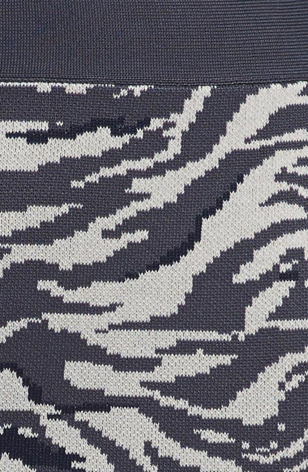 Alternate Image 3  - Leith 'Punked' Animal Print Miniskirt