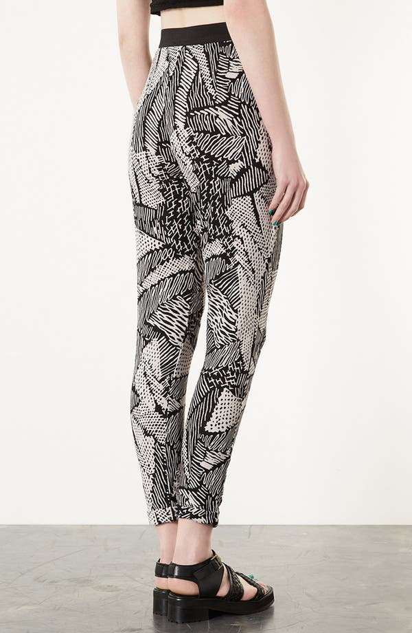 Alternate Image 2  - Topshop 'Scribble' Tapered Trousers