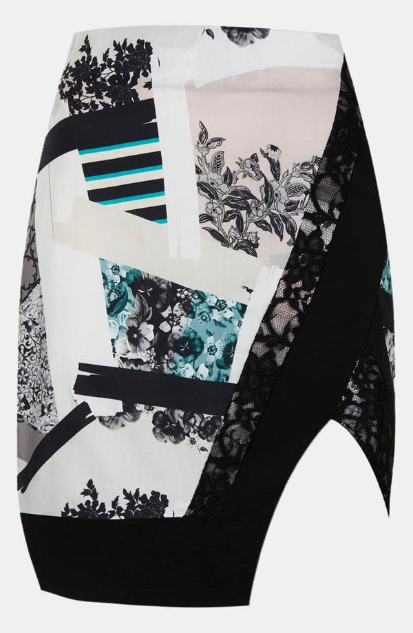 Alternate Image 3  - Topshop 'Paint Stroke' Pencil Skirt