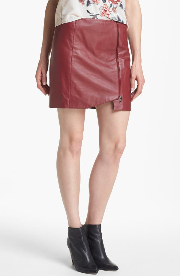 leith leather wrap skirt nordstrom
