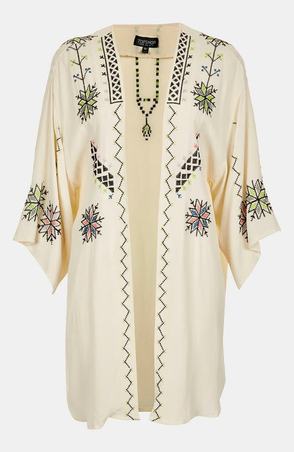 Alternate Image 4  - Topshop Embroidered Kimono Jacket