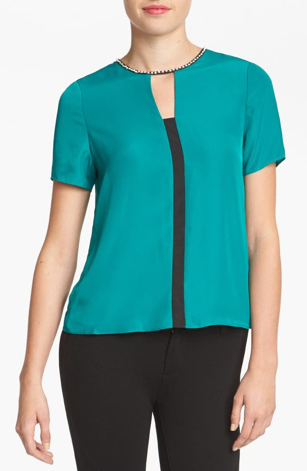 Alternate Image 1 Selected - MM Couture Embellished Colorblock Top