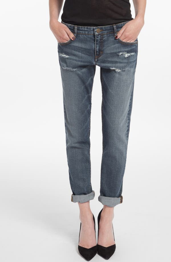 Main Image - maje 'Daulnay' Destructed Boyfriend Jeans