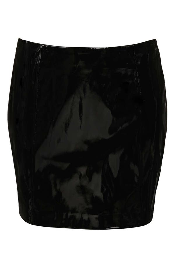 Alternate Image 3  - Topshop Vinyl Miniskirt (Petite)