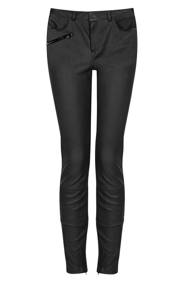 Main Image - Topshop 'The Collection Starring Kate Bosworth' Leather Pants