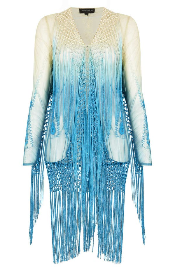 Alternate Image 3  - Topshop Embroidered Fringed Cover-Up