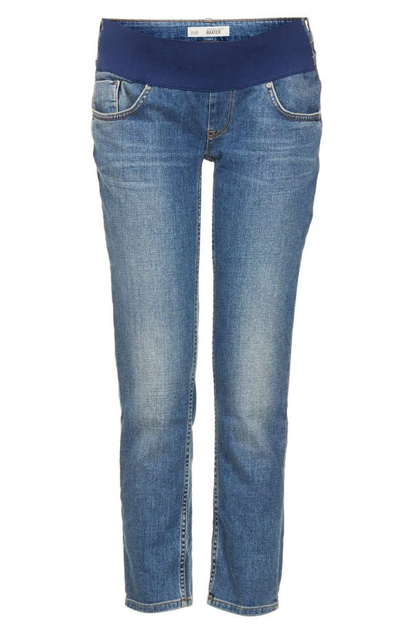Alternate Image 3  - Topshop 'Baxter - 30 Vintage' Maternity Jeans (Mid Stone)