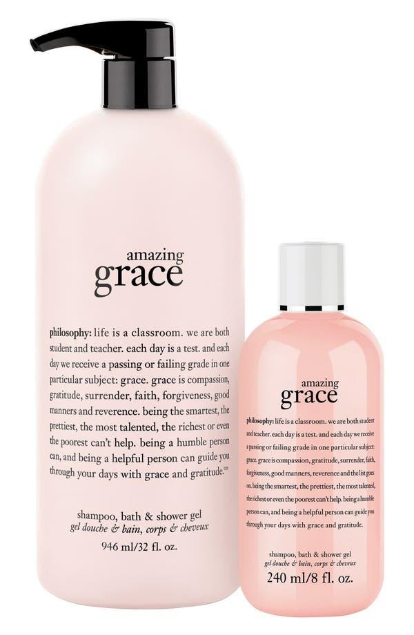Alternate Image 1 Selected - philosophy 'amazing grace' shampoo, shower gel & bubble bath ($65 Value)