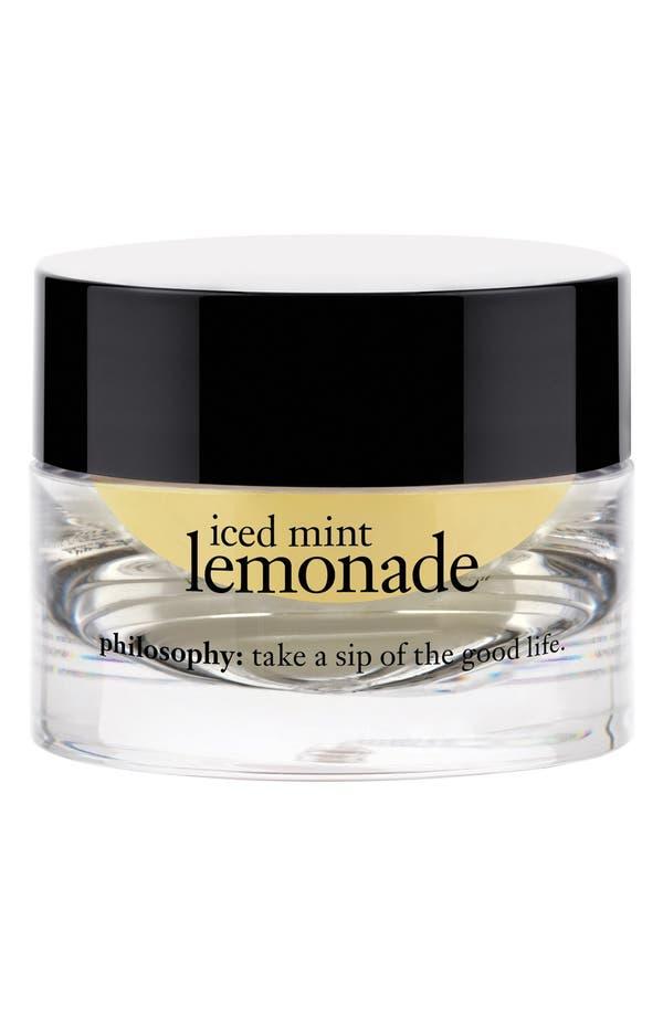 Alternate Image 1 Selected - philosophy 'iced mint lemonade' lip polishing sugar scrub (Limited Edition)