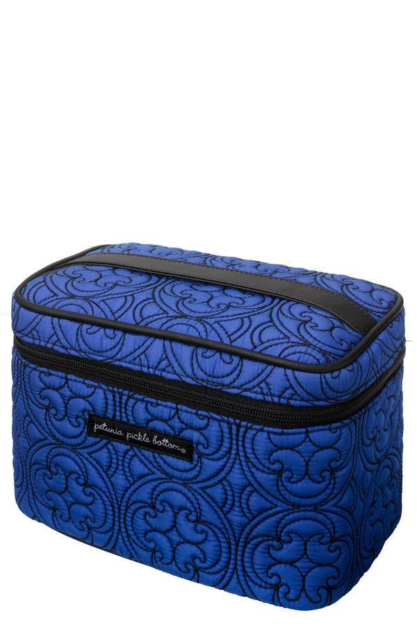 Alternate Image 1 Selected - Petunia Pickle Bottom Embossed Travel Train Case