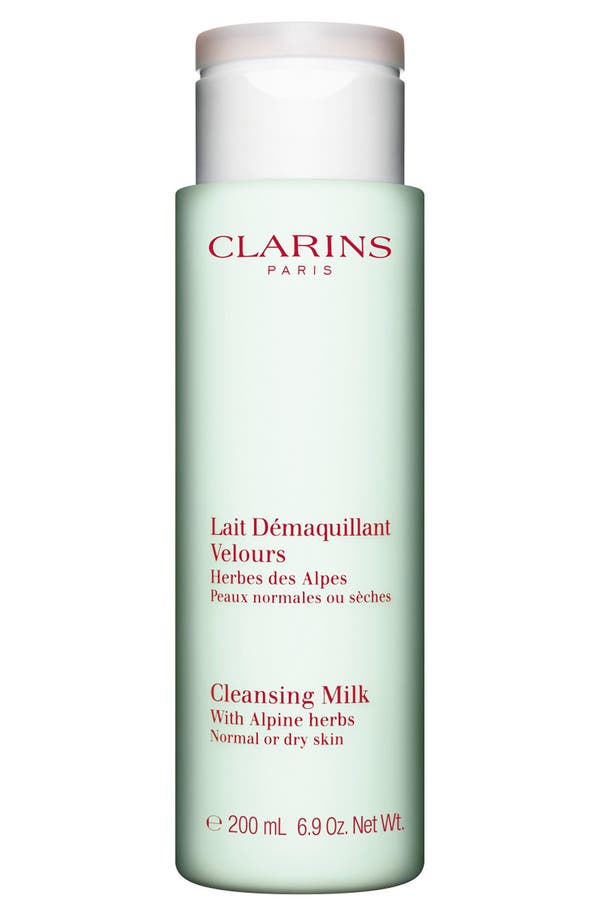 Alternate Image 1 Selected - Clarins Cleansing Milk with Alpine Herbs for Normal/Dry Skin