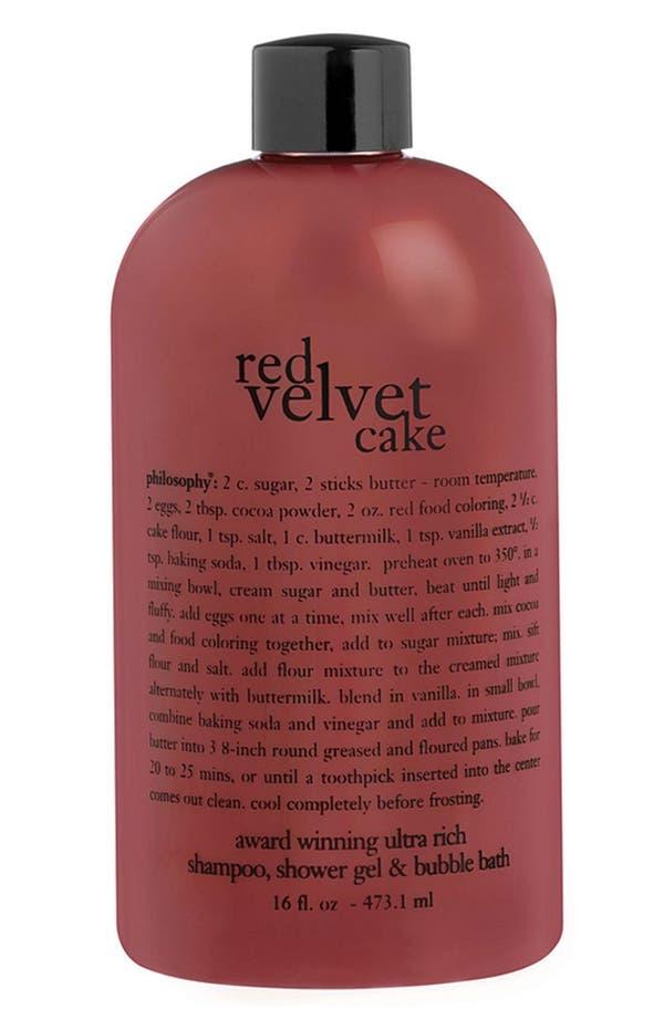 Alternate Image 1 Selected - philosophy 'red velvet cake' shampoo, shower gel & bubble bath