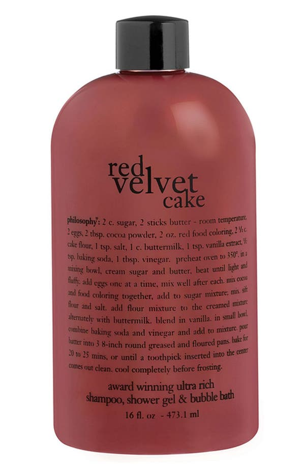 Main Image - philosophy 'red velvet cake' shampoo, shower gel & bubble bath