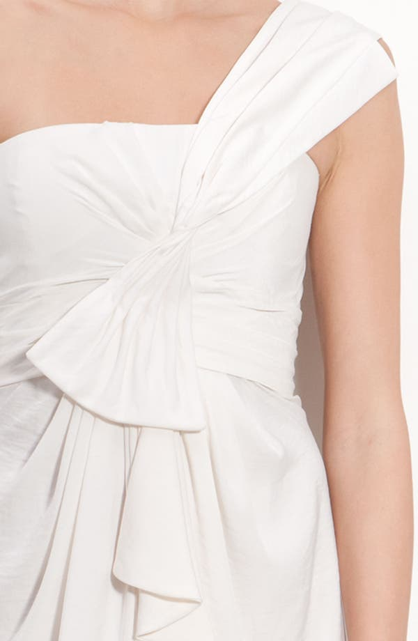 Alternate Image 5  - BCBGMAXAZRIA Drape Front One-Shoulder Satin Dress