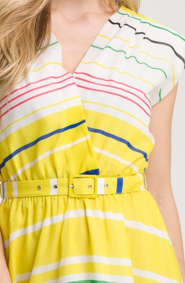 Alternate Image 3  - Presley Skye 'Sloane' Belted Stripe Dress