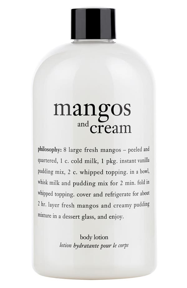Main Image - philosophy 'mangos & cream' body lotion