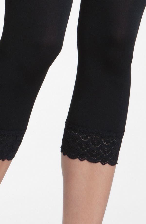 Alternate Image 3  - Wolford 'Peacock Lace' Capri Leggings