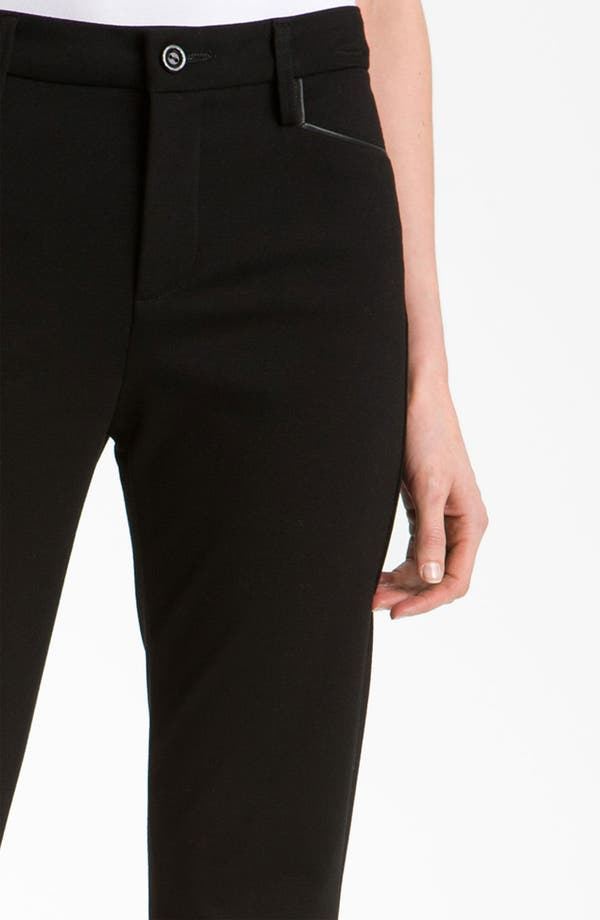 Alternate Image 3  - NYDJ 'Ryan' Faux Leather Trim Ponte Trousers