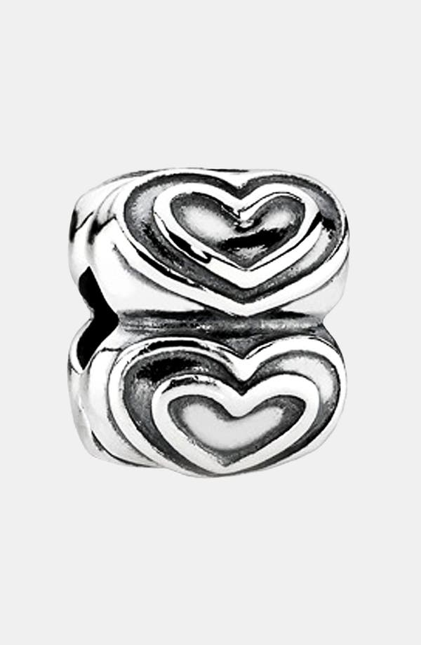Alternate Image 1 Selected - PANDORA 'You're in My Heart' Clip Charm