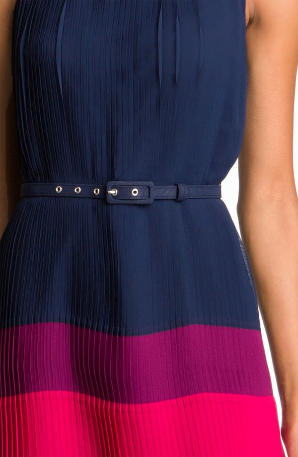 Alternate Image 3  - Eliza J Pleated Colorblock Chiffon Dress