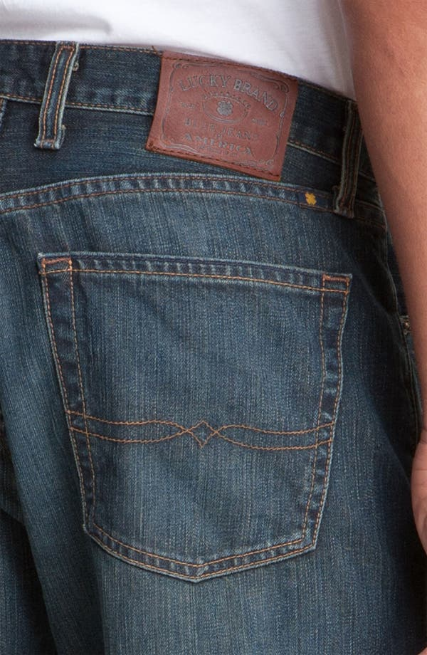 Alternate Image 3  - Lucky Brand Relaxed Straight Leg Jeans (Love Train)(Big & Tall)