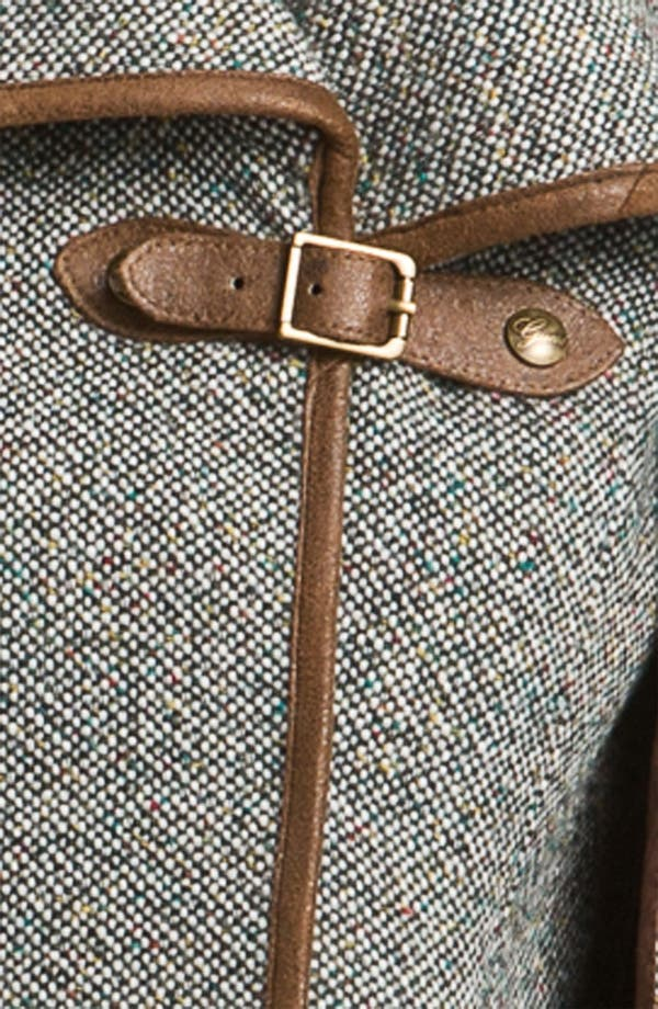 Alternate Image 3  - GUESS Leather Trim Tweed Cape