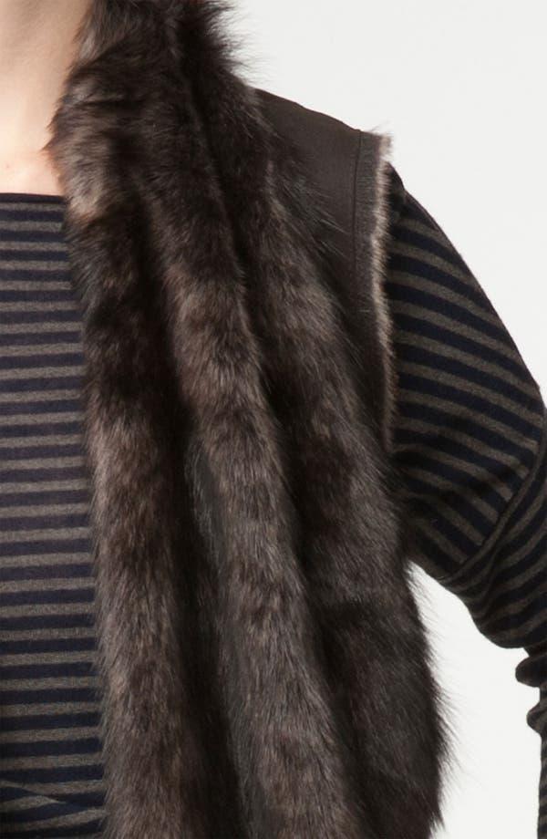 Alternate Image 3  - Vince Draped Genuine Shearling Vest