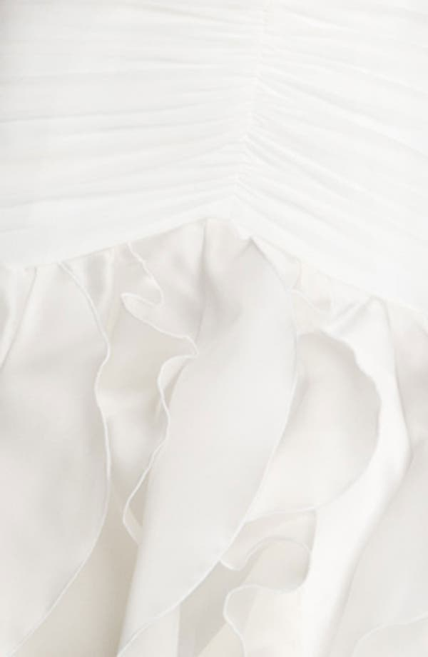 Alternate Image 3  - Christian Siriano Ruffle Chiffon Strapless Gown