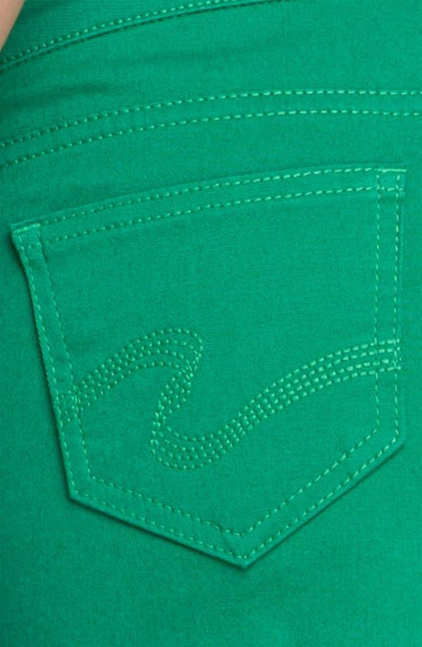 Alternate Image 3  - STS Blue Cutoff Color Denim Shorts (Sardinia Green) (Juniors)