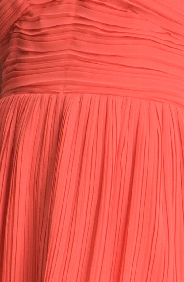 Alternate Image 3  - BB Dakota Portrait Collar Pleated Chiffon Dress
